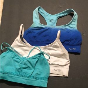 Three sports bras